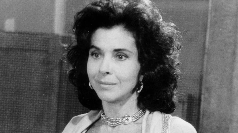 """Betty Faria durante a gravação da novela """"Tieta"""", da Rede Globo, em 1990"""