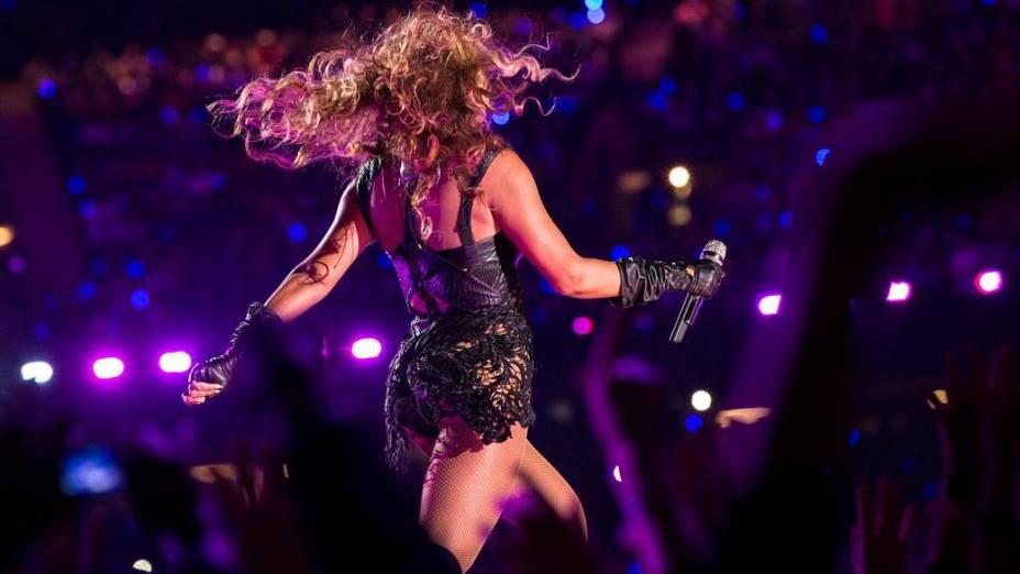 Beyoncé durante show no Super Bowl