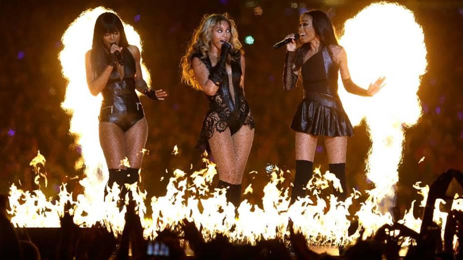 Show de Beyoncé teve até reunião com as amigas do Destinys Child, seu antigo grupo musical