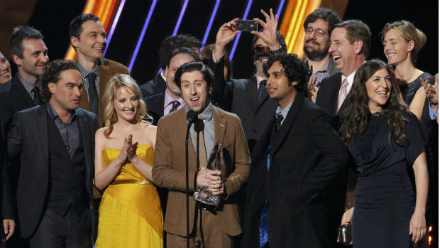 O elenco da série <em>The Big Bang Theory</em>