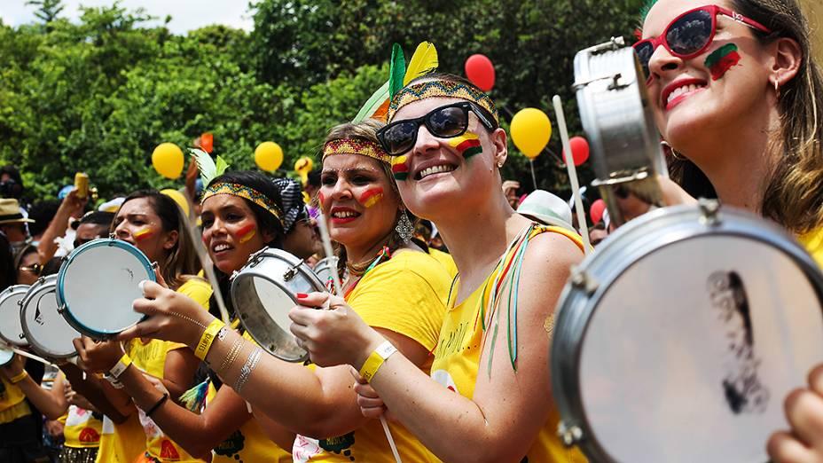 O bloco Bangalafumenga desfila no bairro do Sumaré, zona oeste de São Paulo