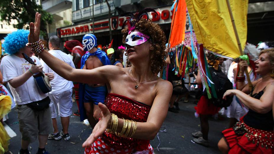 Desfile do Cordão do Boitatá no Centro do Rio de Janeiro