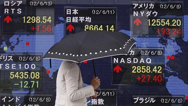 Painel em Tóquio mostra índices de ações em alta nesta segunda-feira