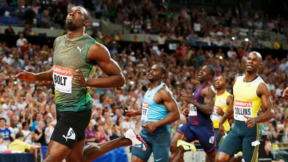 O jamaicano Usain Bolt: melhor tempo nos 100 m em Londres