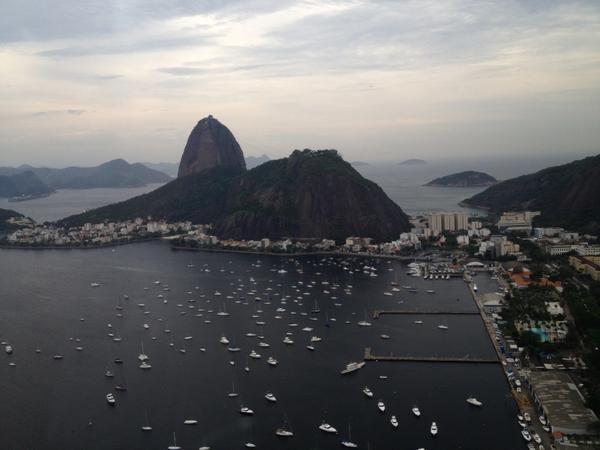 <br><br>  Foto feita por Usain Bolt em seu passeio pelo Rio, nesta terça