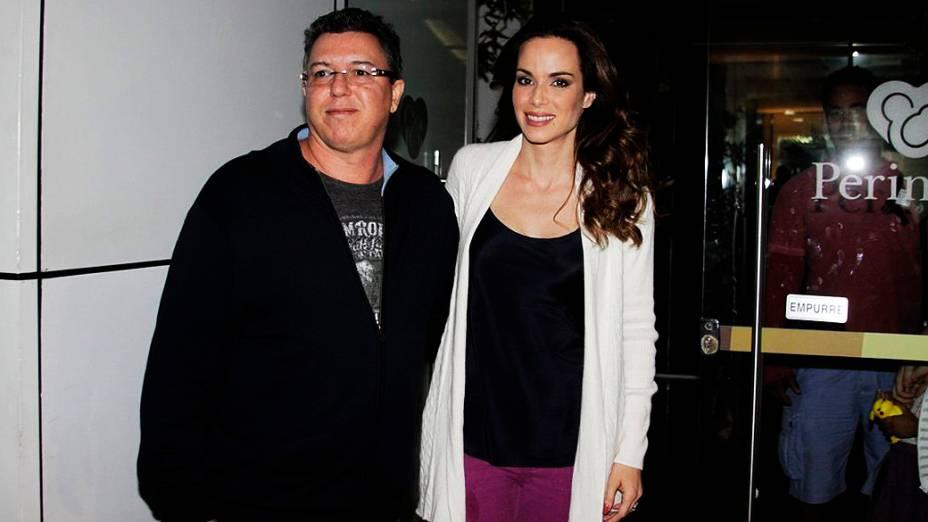 Ana Furtado e Boninho visitaram Angélica e Eva