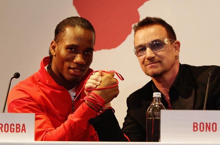 No Dia Mundial da AIDS, em 2009, o cantor apresentou parceria com uma marca de esportes representada pelo jogador marfinense Didier Drogba. A campanha tem como objetivo combater a AIDS na África.