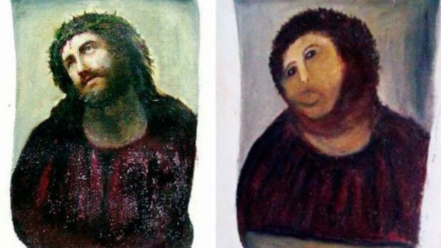 Tentativa frustrada de restauração da pintura 'Ecce Homo'