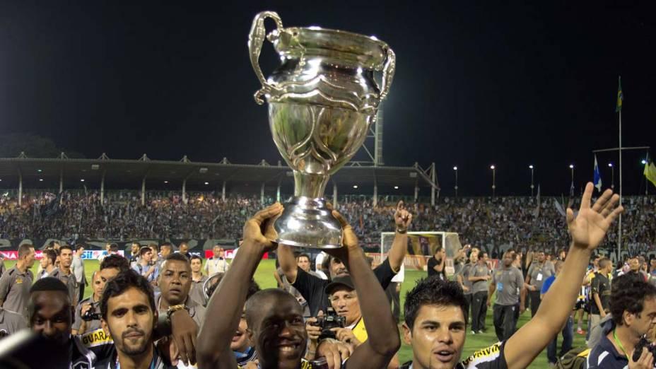Jogadores do Botafogo comemoram a conquista do Campeonato Estadual do Rio de Janeiro