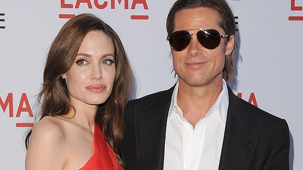 O casal Brad Pitt e Angelina Jolie em première do filme A Árvore da Vida