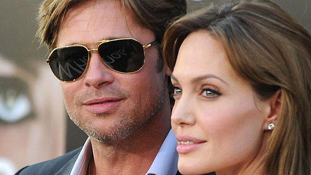 O casal de atores Brad Pitt e Angelina Jolie