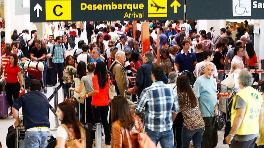 Movimentação de passageiros no Aeroporto Santos Dumont, no Rio de Janeiro