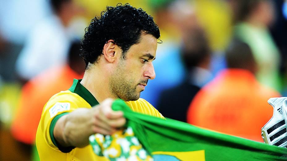 Fred comemora no estádio Maracanã durante final da Copa das Confederações entre Brasil e Espanha, no Rio de Janeiro