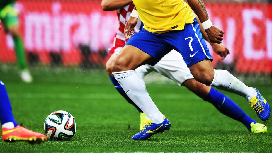 Detalhe do uniforme da seleção brasileira