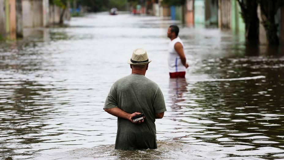 Estragos provocados pela chuva em Serra