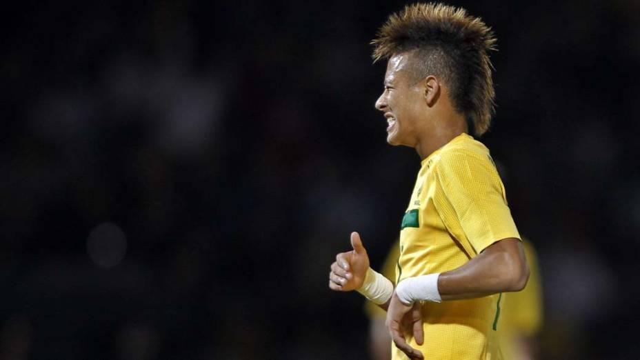 Neymar durante a partida entre Brasil e Equador, válida pela primeira fase da Copa América, disputada na Argentina