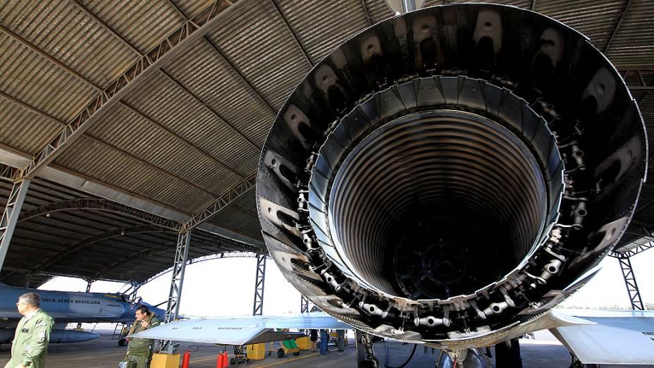 Parte interna do propulsor de um Mirage 2000