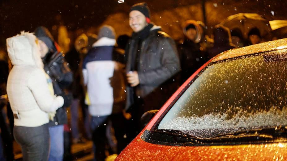 Em SC, nevou em treze cidades, entre elas São Joaquim, na serra catarinense