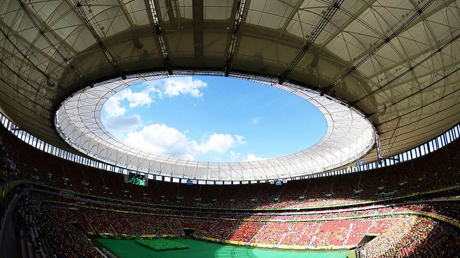 Brasil vence o Japão na abertura da Copa das confederações no estádio Mané Garrincha, em Brasília