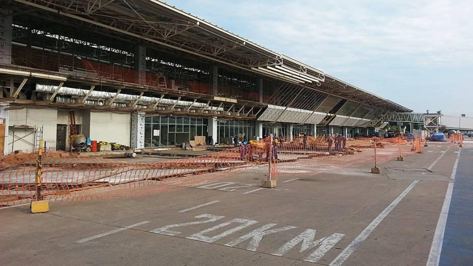 Novo Aeroporto Internacional Marechal Rondon (MT) visto da pista de pouso