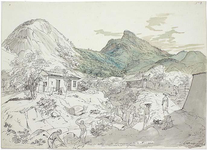 Vista do Vale denominado Laranjeiras, e montanha do Corcovado é uma obra de Johann Moritz Rugendas. O artista pintou com aquarela e tinta � com pena.