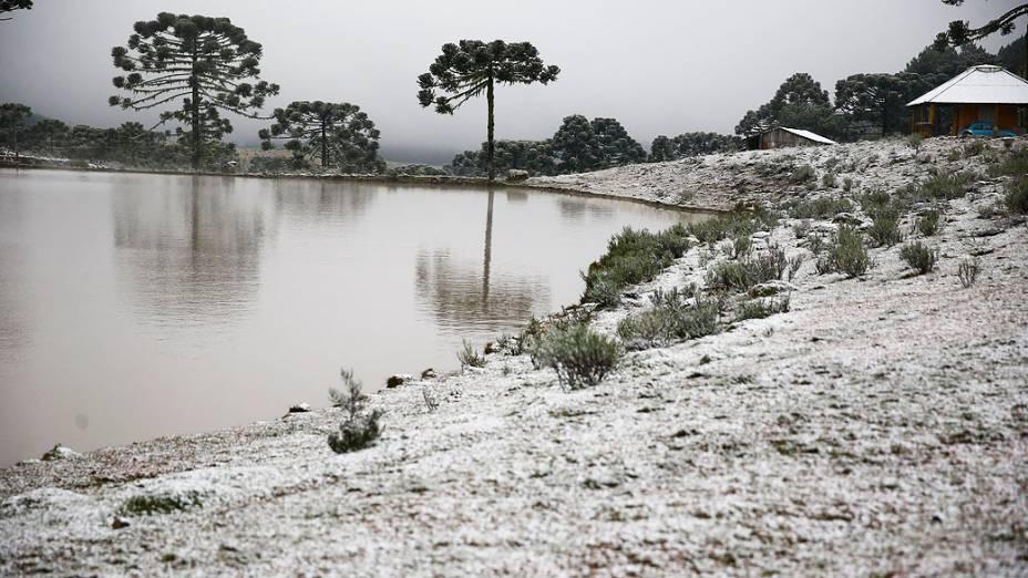 A temperatura em São José dos Ausentes nesta segunda chegou a 0,5º negativos