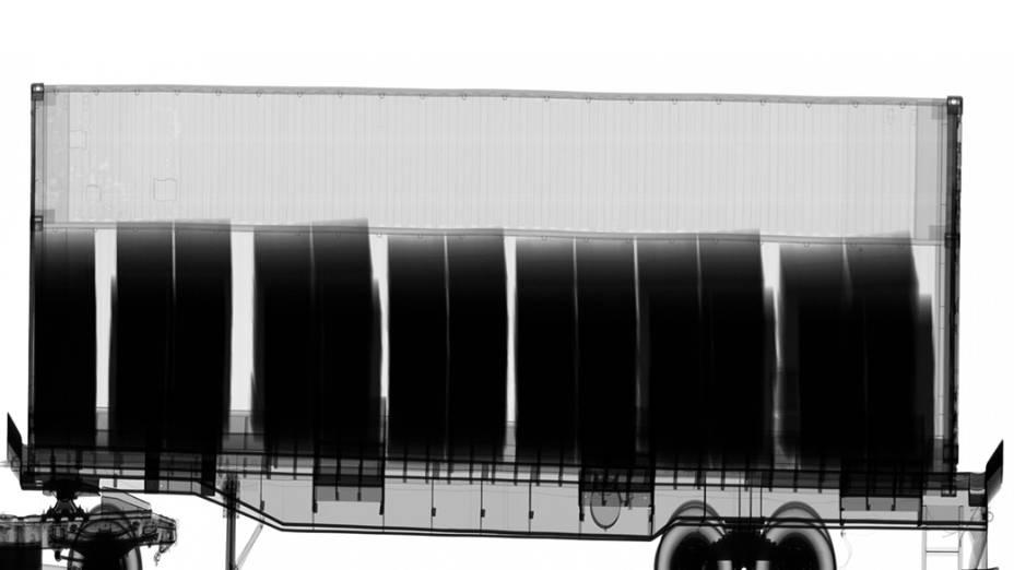 Carga de celulose é analisada em contêiner no Porto de Santos