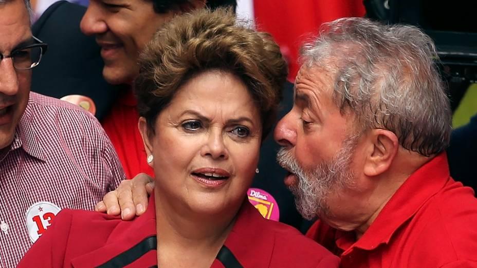 Dilma ao lado de Lula no centro de São Paulo - 03/10/2014