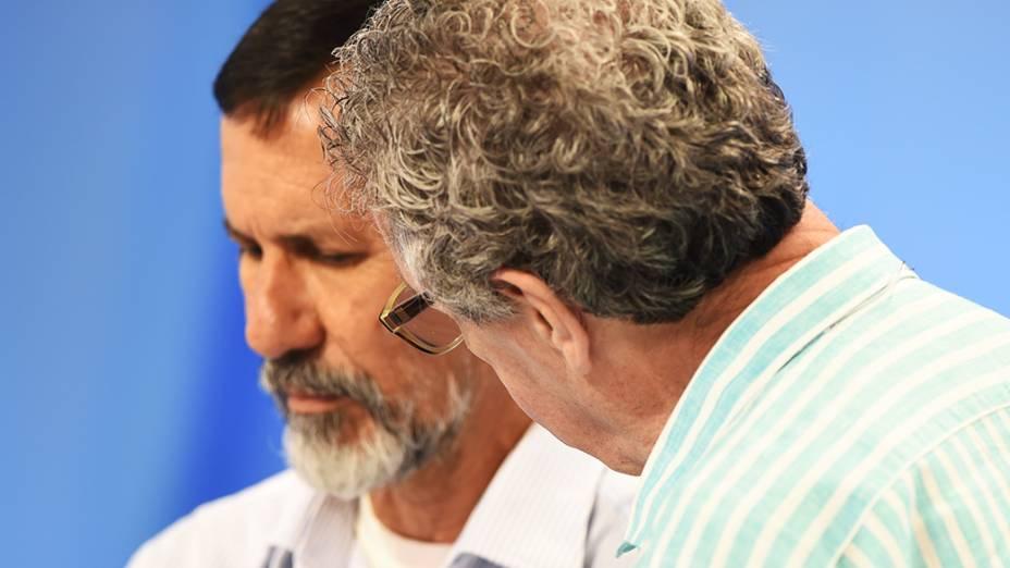 O candidato à Presidência da República, Eduardo Jorge (PV), durante o intervalo do debate promovido pela Rede Record, em São Paulo