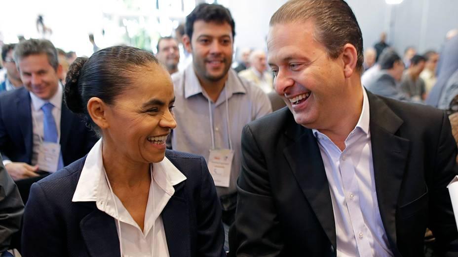 O governador de Pernambuco Eduardo Campos e Marina Silva realizam encontro, em São Paulo para discutir a construção do programa de governo