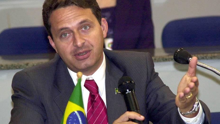 O então ministro da Ciência e Tecnologia, Eduardo Campos, em 2004