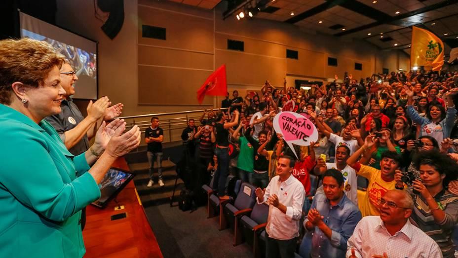 Dilma Rousseff no encontro com a juventude em São Paulo - 11/08/2014