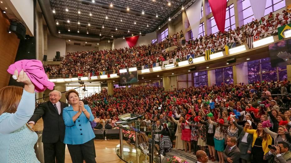 Dilma Rousseff participa do Congresso Nacional de Mulheres das Assembleias de Deus Ministério de Madureira, em São Paulo - 08/08/2014