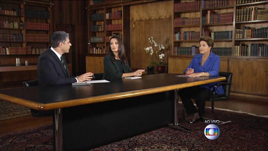 Presidente Dilma Rousseff é entrevistada no Jornal Nacional