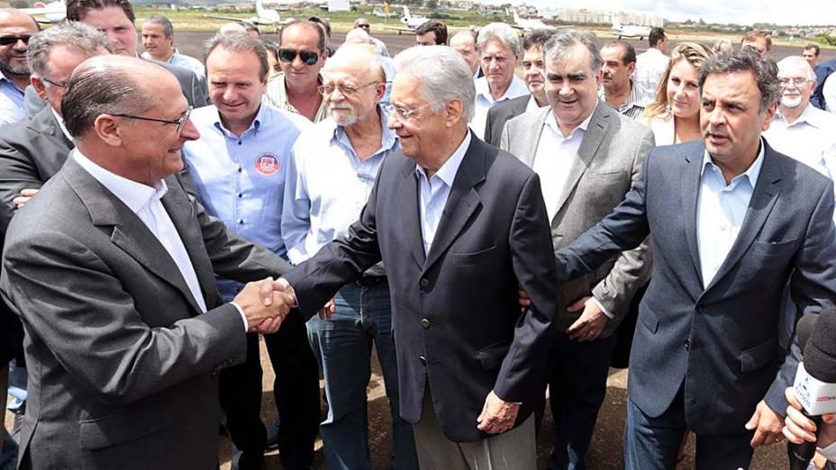 Geraldo Alckmin, Fernando Henrique Cardoso e Aécio Neves