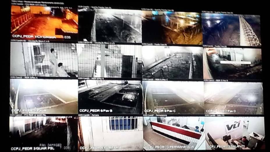 Sistema de vigilância de câmeras do Complexo Penitenciário de Pedrinhas, em São Luís, Maranhão