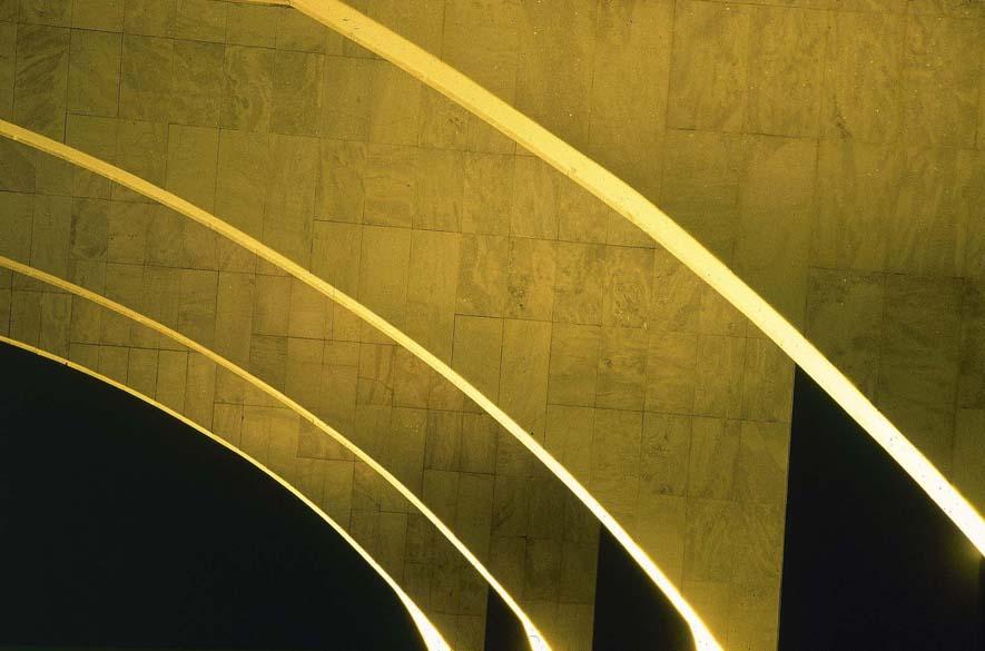 Detalhe da arquitetura do Palácio do Planalto, em Brasília