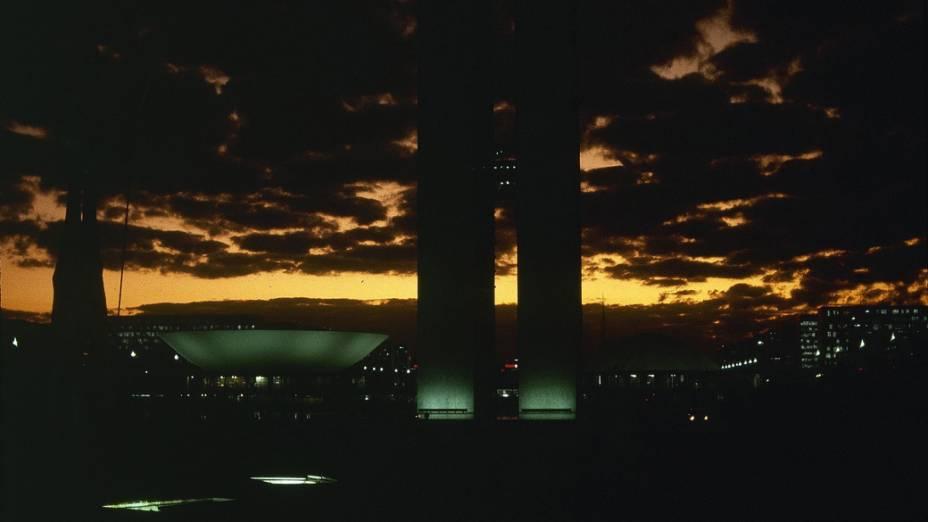Vista noturna da cidade de Brasília