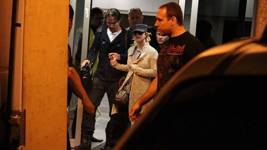 Britney Spears durante sua chegada ao Rio de Janeiro