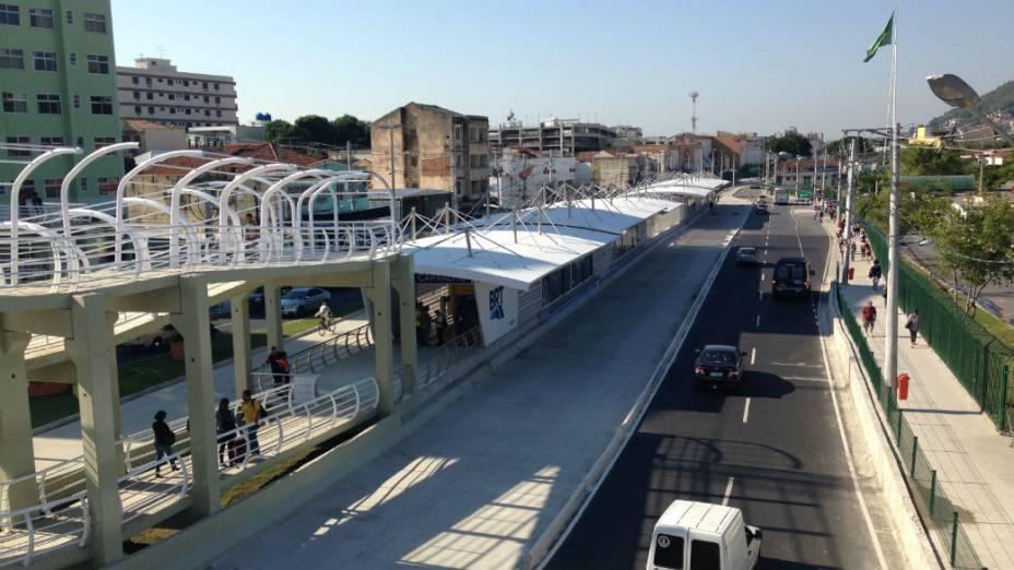BRT Transcarioca: conexão com o metrô na estaçao Vicente de Carvalho