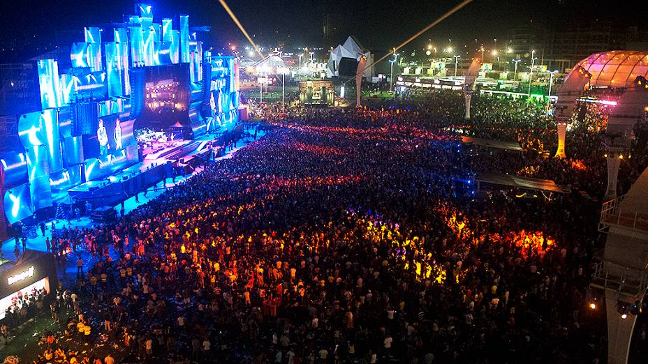 Bruce Springsteen durante show no Rock in Rio 2013