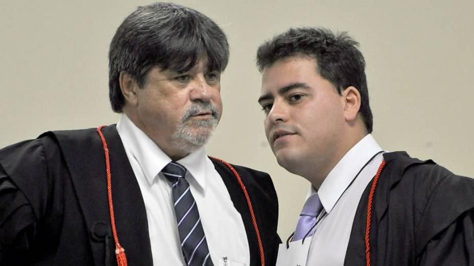 Lúcio Adolfo e Thiago Lenoir, advogados de defesa do goleiro Bruno