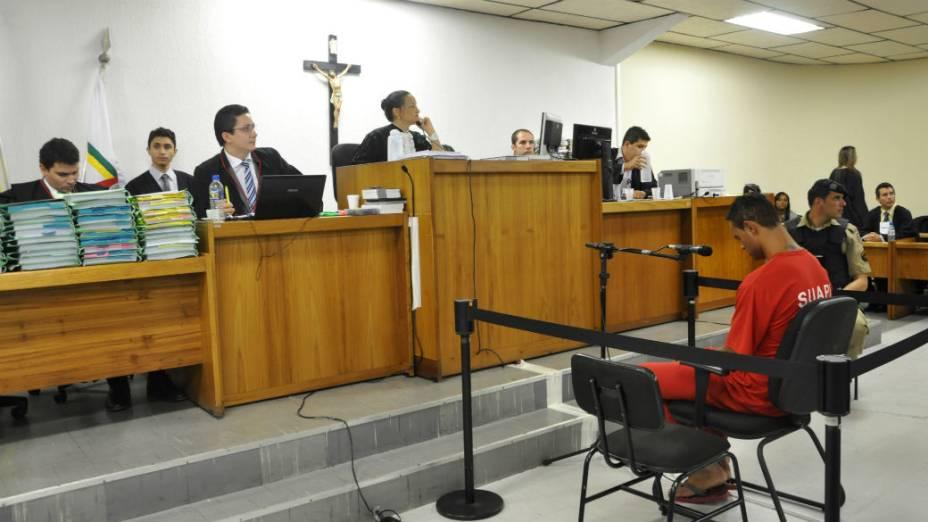 Juíza Marixa Fabiane ouve Bruno no terceiro dia de julgamento, em Contagem
