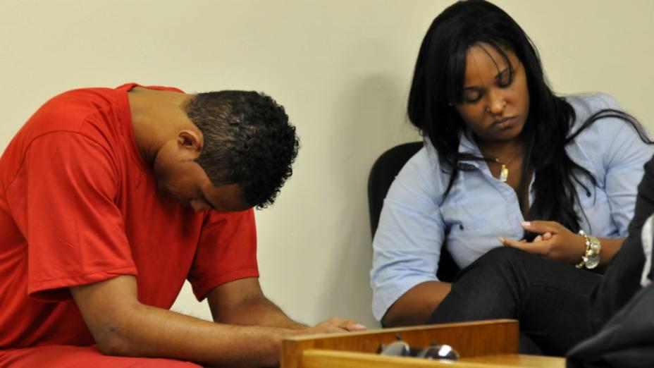 Goleiro Bruno e Dayanne no segundo dia do julgamento
