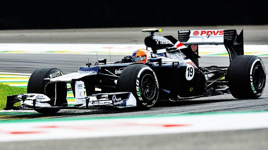 Bruno Senna, durante treino classificatório para o GP do Brasil