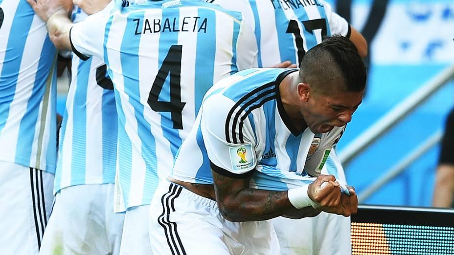 Jogador da Argentina no Mineirão, em Belo Horizonte
