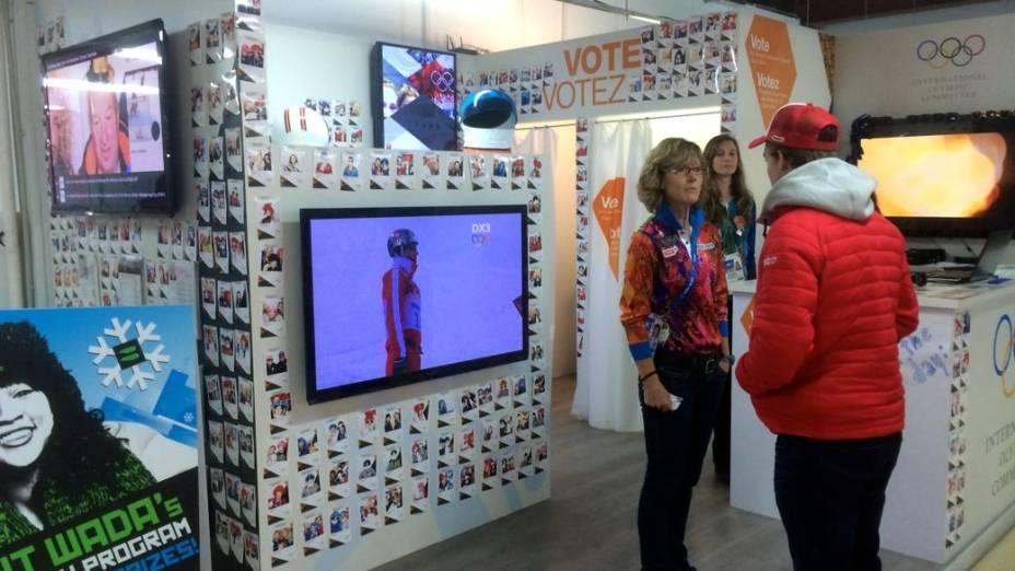 A cabine de fotos do COI em Sochi-2014