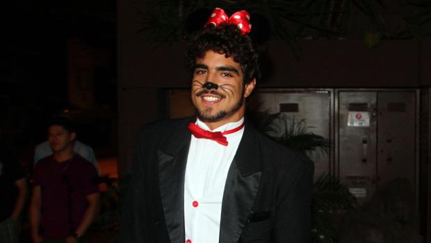 Caio Castro, no aniversário do cantor Thiaguinho, em São Paulo