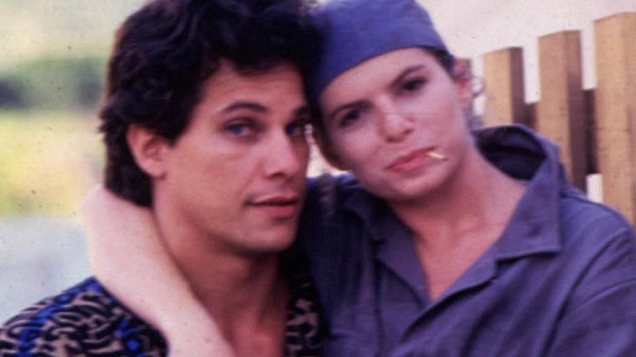 Cambalacho: Edson Celulari e Débora Bloch na novela de 1986