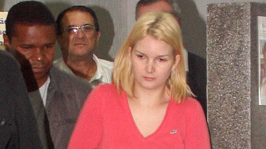 Elize Matsunaga, mulher do empresário Marcos Kitano Matsunaga, detida após ter a prisão temporária decretada